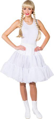 Petticoat knielang weiß 2-lagig – Bild 1