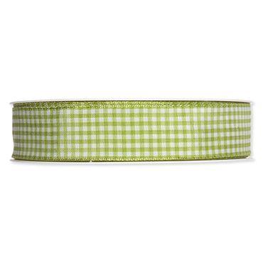Dekoband Vichy grün 25m
