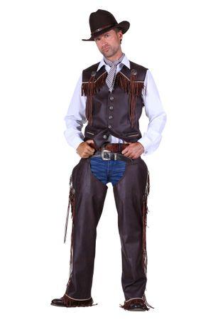 Cowboy-Chaps braun – Bild 1