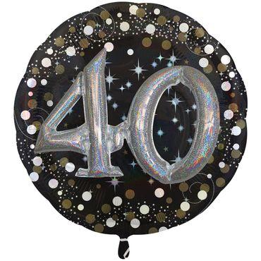 Folienballon 40 XXL schwarz