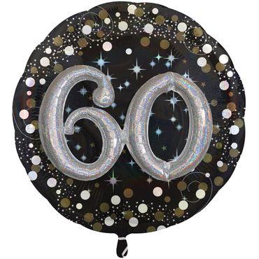 Folienballon 60 XXL schwarz