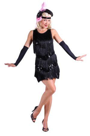 Charleston-Kleid ''Dazzle me'' schwarz – Bild 1