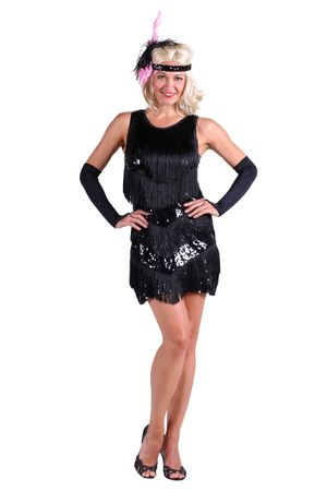 Charleston-Kleid ''Dazzle me'' schwarz – Bild 2