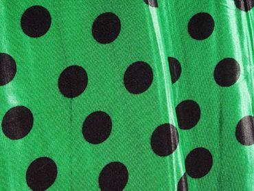 Satin angerauht Punkte grün-schwarz