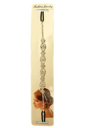 Haarband Strass silber
