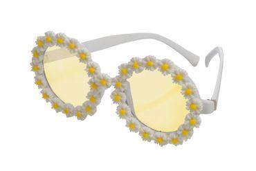 Flowerbrille gelb-weiß