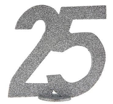 """Aufsteller Zahl """"25"""" silber – Bild 1"""