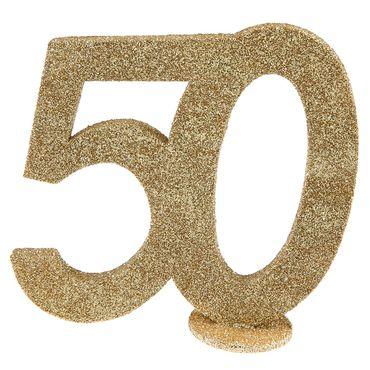 """Aufsteller Zahl """"50"""" gold – Bild 1"""