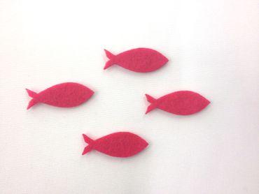 16 Fische geschlossen Filz pink