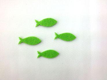 16 Fische geschlossen Filz apfelgrün