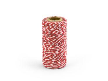 Bäckergarn rot-weiß 50 m – Bild 1