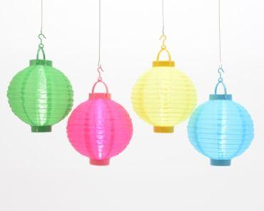 LED-Laterne Nylon uni 25cm