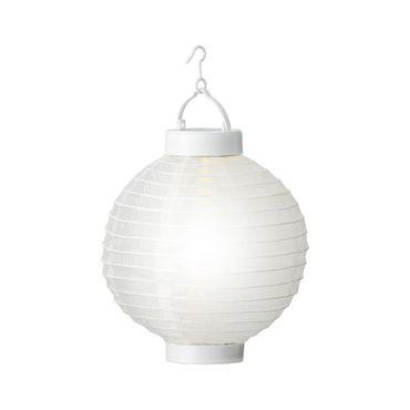 LED-Solar-Laterne Lampion Nylon weiß – Bild 1