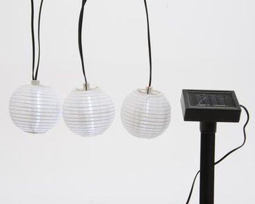 LED-Solar-Lampionkette weiß