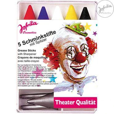 5 Schminkstifte mit Spitzer