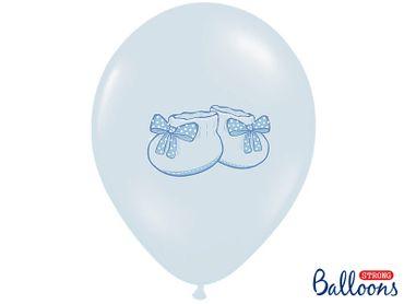 6 Ballons Baby-Schühchen blau – Bild 1