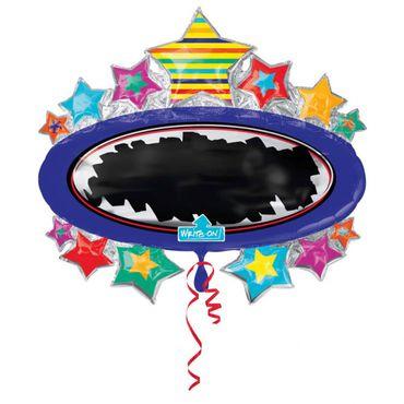 Folienballon Sterne individualisierbar