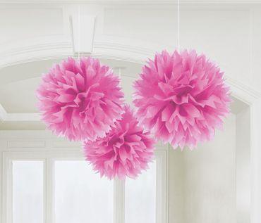 3 Pompoms pink
