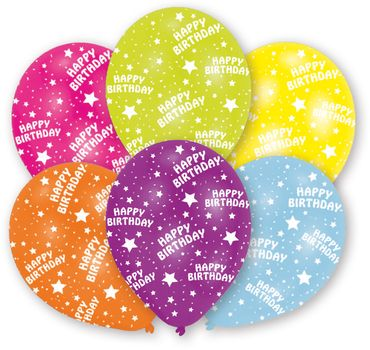 6 Ballons Happy Birthday – Bild 1