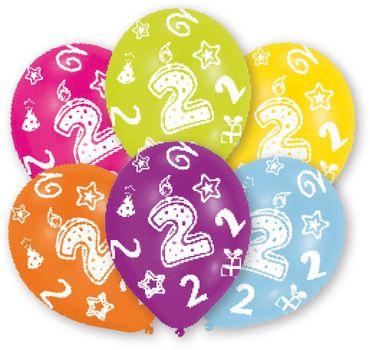 6 Zahlenballons 2