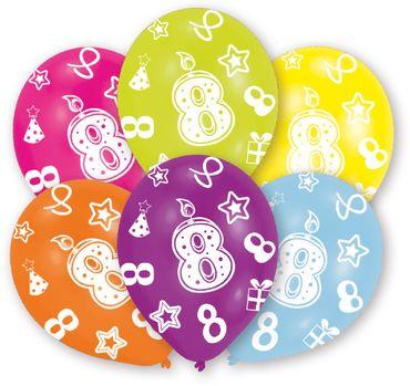 6 Zahlenballons 8