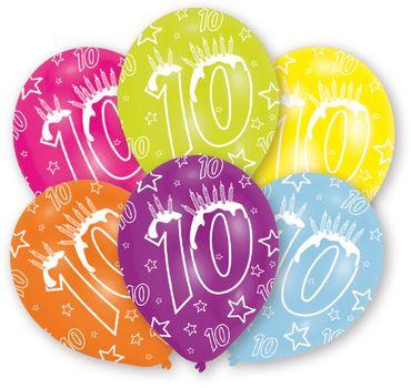 6 Zahlenballons 10