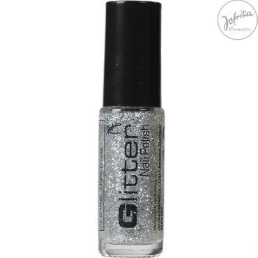 Glitter-Nagellack silber