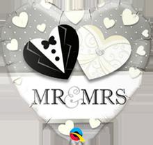 Folienballon Herz Mr. & Mrs.