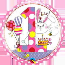 Folienballon Rachel Ellen 1. Geburtstag Mädchen
