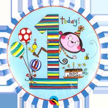 Folienballon Rachel Ellen 1. Geburtstag Junge