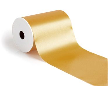 Satinband 100 mm x 25m gold