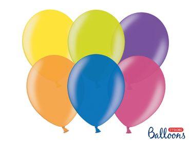 10 Metallic-Ballons bunt