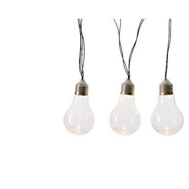 LED-Solar-Lichterkette Birnen klar