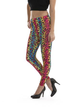 Leggings Print Leo bunt