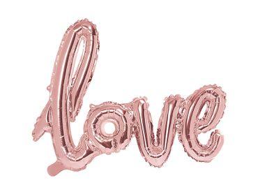 Folienschriftzug love rosegold – Bild 1