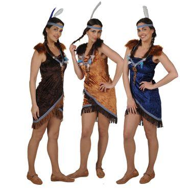 Indianerin-Kleid Sexy blau