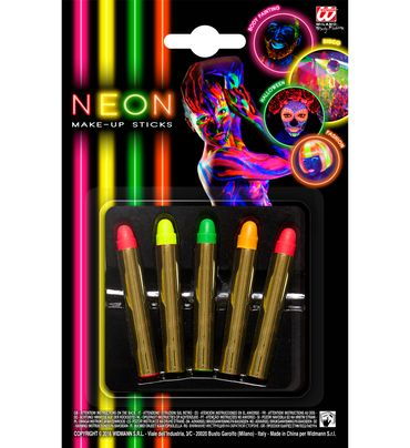 5 Neon-Make-up-Stifte – Bild 1