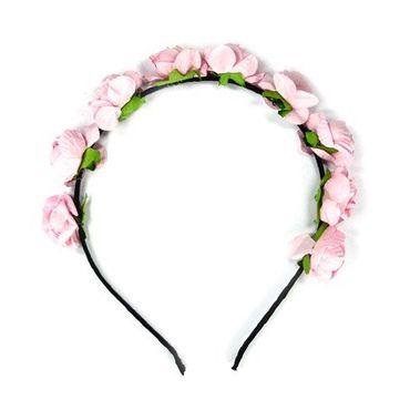 Haarreif Blumen rosa