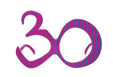 Brille Jahreszahl 30 bunt – Bild 1