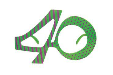 Brille Jahreszahl 40 bunt – Bild 1