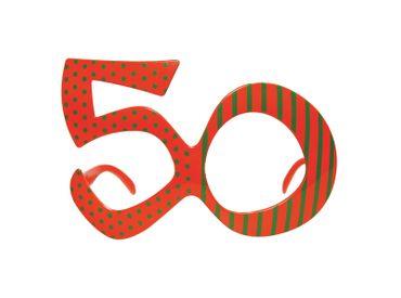Brille Jahreszahl 50 bunt – Bild 1