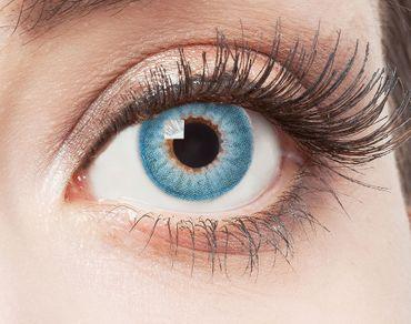 Kontaktlinse Blue Fire – Bild 1