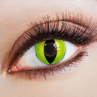 Kontaktlinse Devilish Cat grün – Bild 1