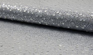 Jersey Spangles m. Pailletten grau-silber