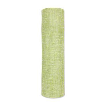Dekoband Tischläufer Leinenoptik hellgrün – Bild 2