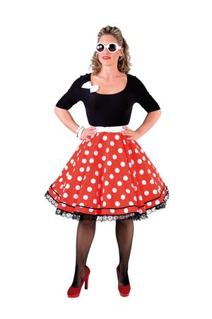 Rock'n Roll-Kleid sw-rot