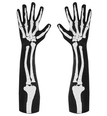 Skelett-Handschuhe lang – Bild 1