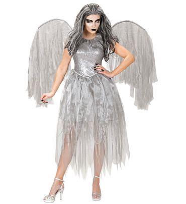 Dunkler Engel Kleid mit Flügeln – Bild 1