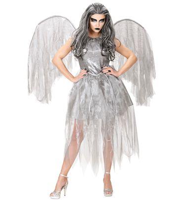 Dunkler Engel Kleid mit Flügeln – Bild 2
