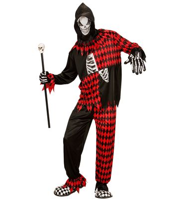 Böser Hofnarr-Anzug Horror-Clown – Bild 1